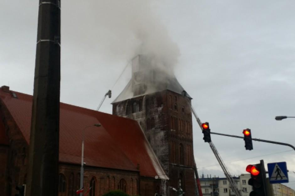 Pożar katedry w Gorzowie Wlkp. W niedzielę odbyło się posiedzenie miejskiego zespołu zarządzania kryzysowego