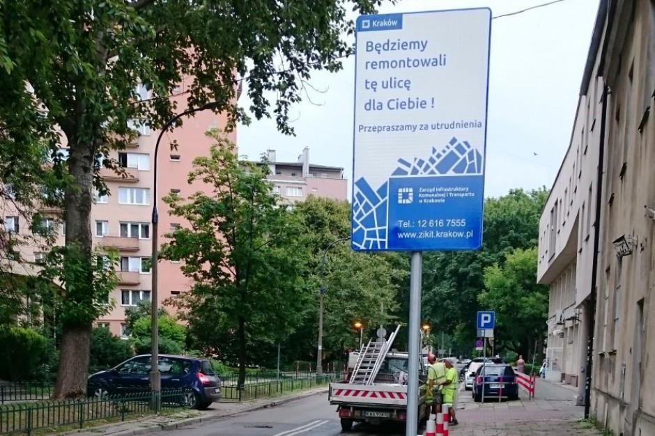 W Krakowie tablice zapowiedzą remonty