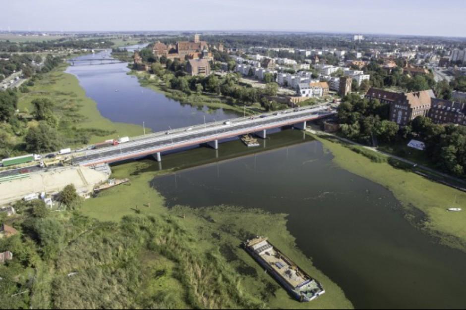 """Drugi most przez Nogat w Malborku sprawdził się """"na szóstkę"""""""