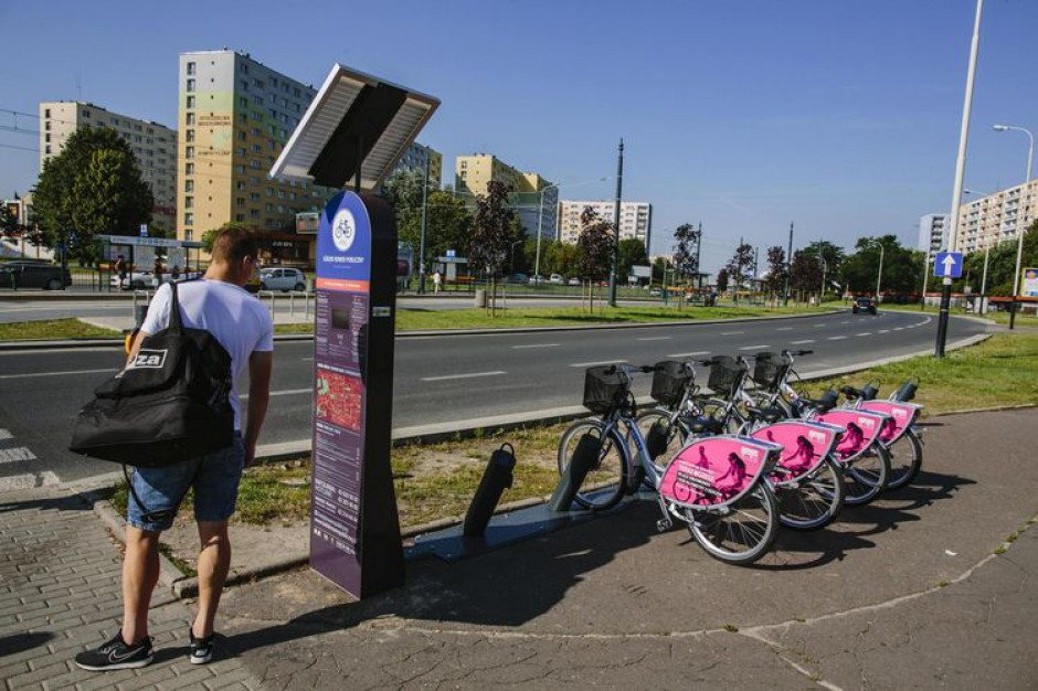 Działają już nowe stacje Łódzkiego Roweru Publicznego