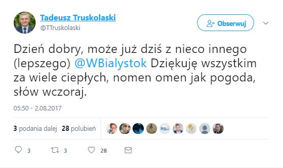 źródło: twitter Tadeusz Truskolaski