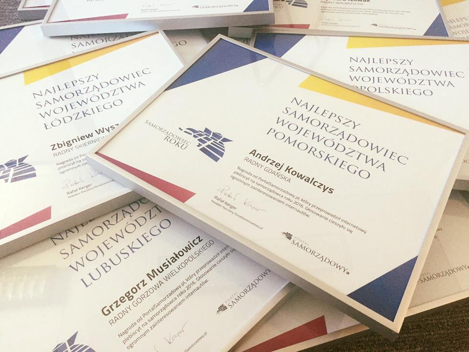 W konkursie na Samorządowca Roku nagrody powędrowały także do najlepszych radnych w swoich województwach. Fot. PTWP