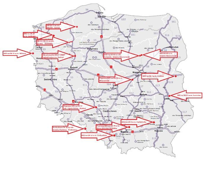 Minister infrastruktury i budownictwa zatwierdził do realizacji kolejnych 15 programów inwestycji dla zadań drogowych. Oto gdzie powstaną. (źródło: MIB)