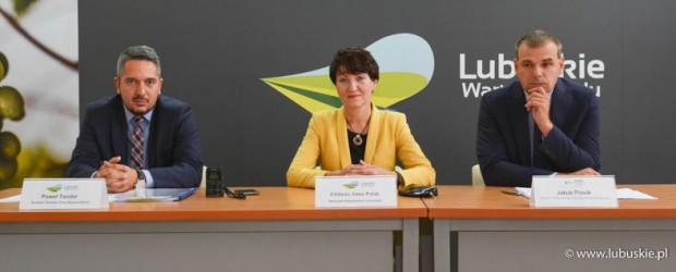 O dodatkowych inwestycjach poinformowano na konferencji prasowej (fot.lubuskie.pl)