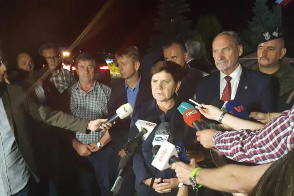 """Premier Beata Szydło w Rytlu: """"Usuwanie skutków tej tragedii to kwestia miesięcy, a nawet lat"""""""