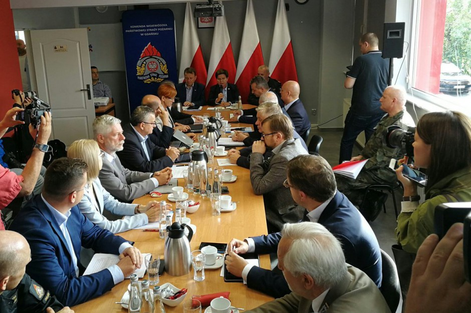 Chojnice: Spotkanie premier i ministrów ws. nawałnic