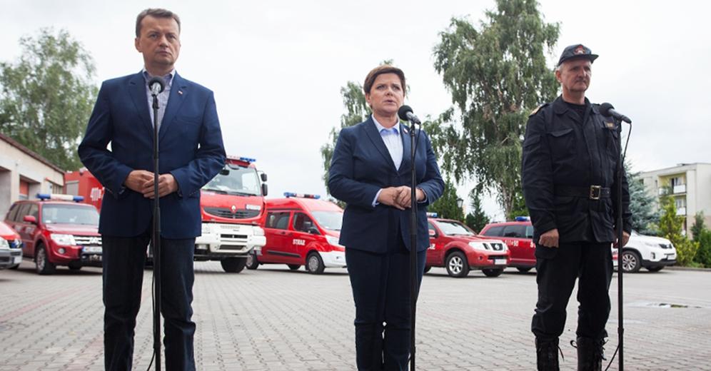 Premier poinformowała, że rozpoczęło się już szacowanie szkód po nawałnicach, aby można było jak najszybciej wypłacać środki finansowe osobom poszkodowanym (fot.premier.gov.pl)