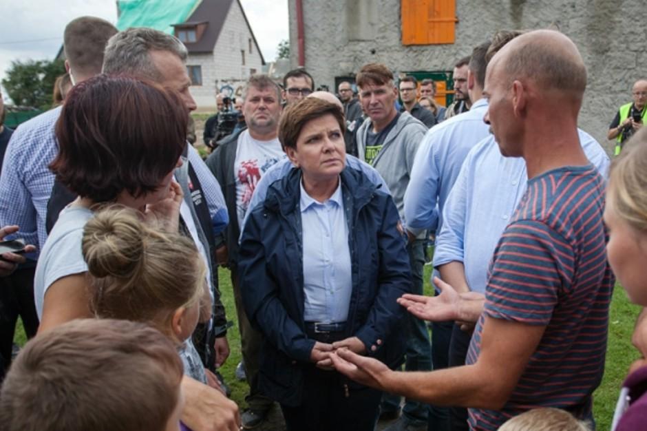 Mała Klonia, Beata Szydło: Nikt nie zostanie pozostawiony bez pomocy po nawałnicach