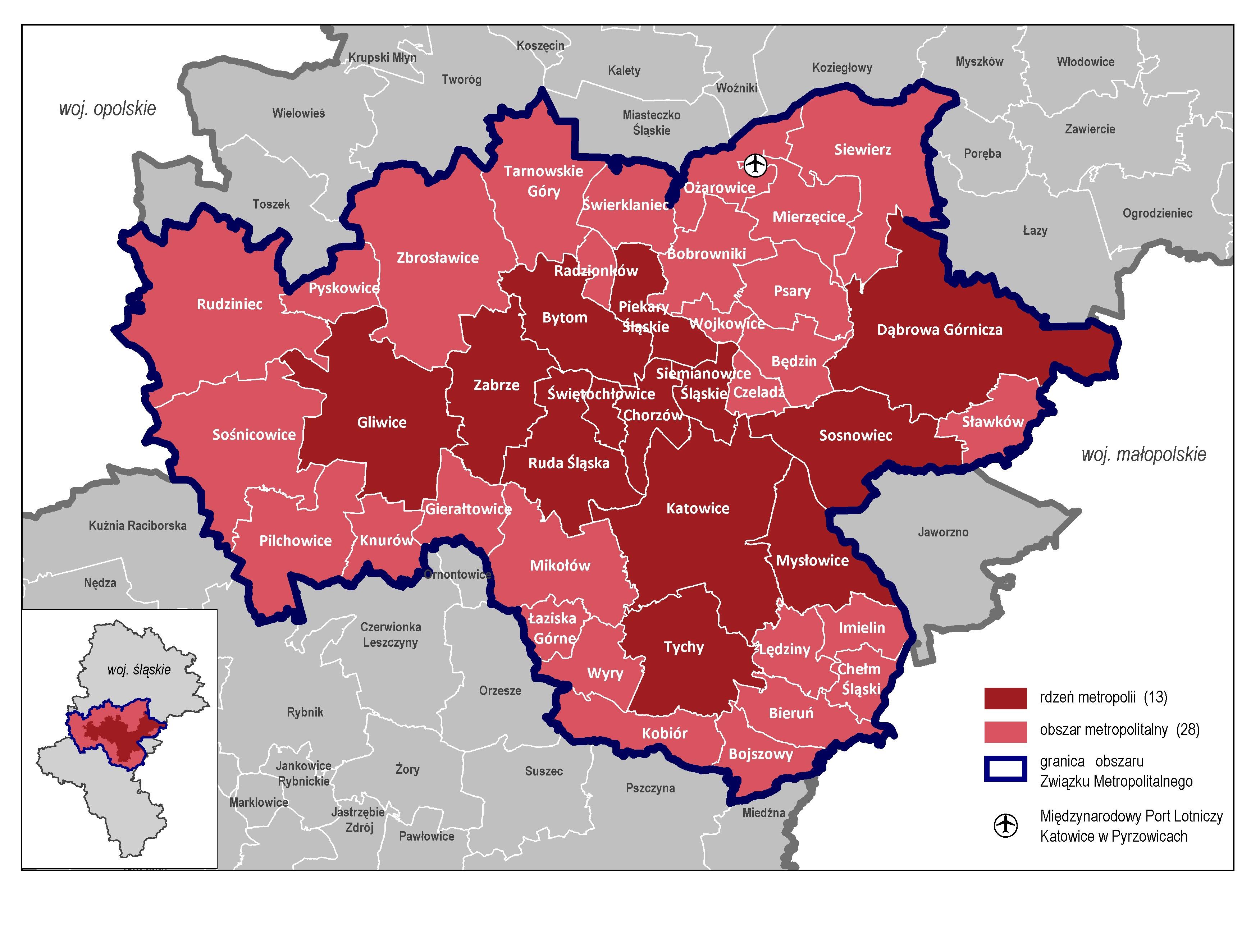 Górnośląsko-Zagłębiowską Metropolię tworzy 41 gmin województwa śląskiego. (fot. GZM)