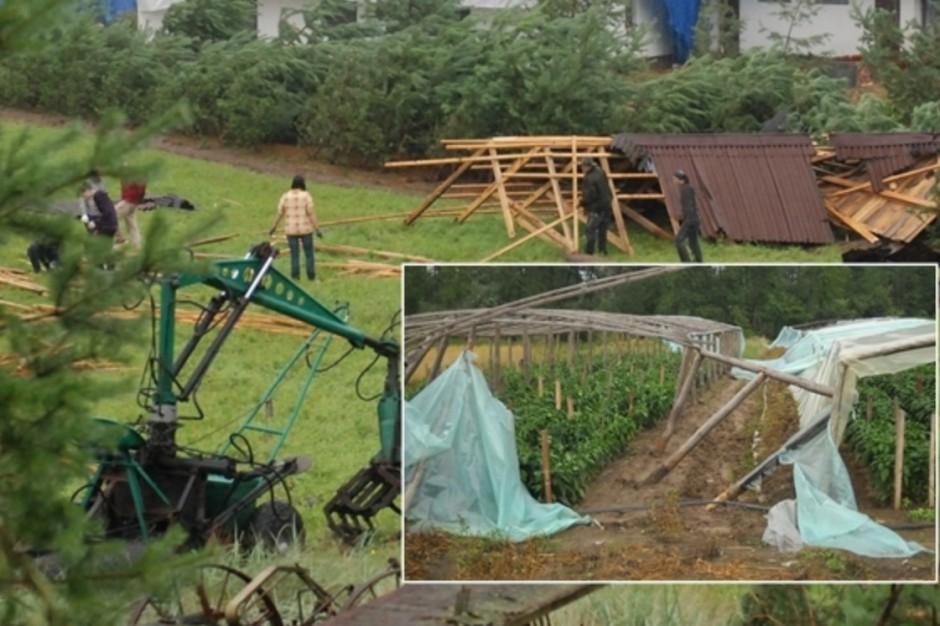 Powstał program pomocowy dla gospodarstw poszkodowanych w nawałnicach
