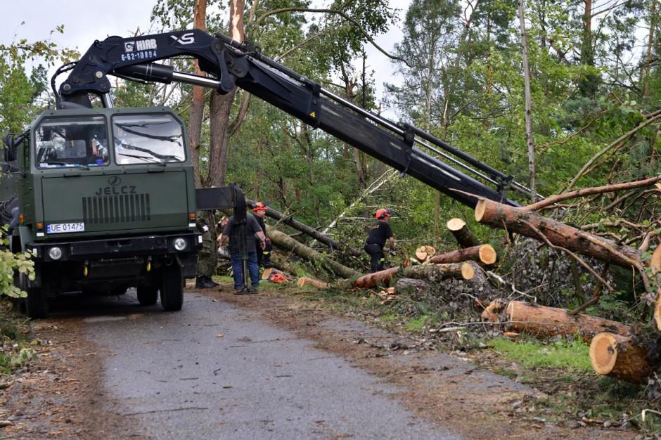 MON: Żołnierze będą pracować przy usuwaniu skutków nawałnic w gminie Jaraczewo