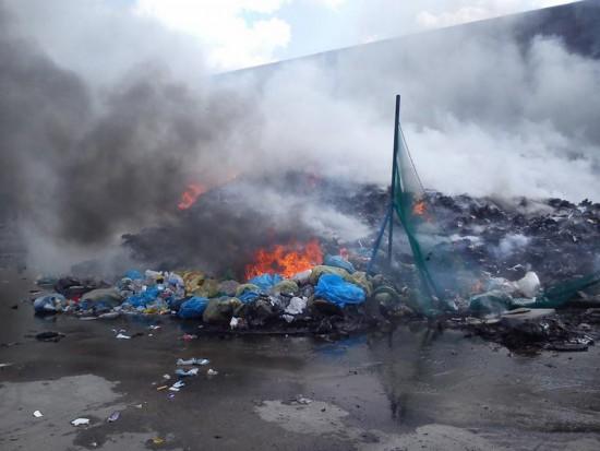 Czwarty pożar składowiska odpadów w gminie Lubin. Mieszkańcy chcą iść do sądu