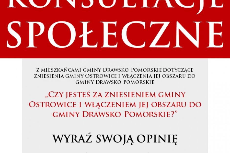 Likwidacja gminy Ostrowice: Mieszkańcy Drawska mają głos