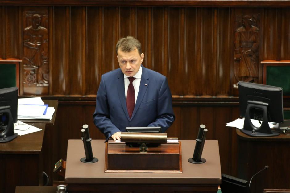 Mariusz Błaszczak: Zarzuty o braku pomocy po nawałnicach to kłamstwo