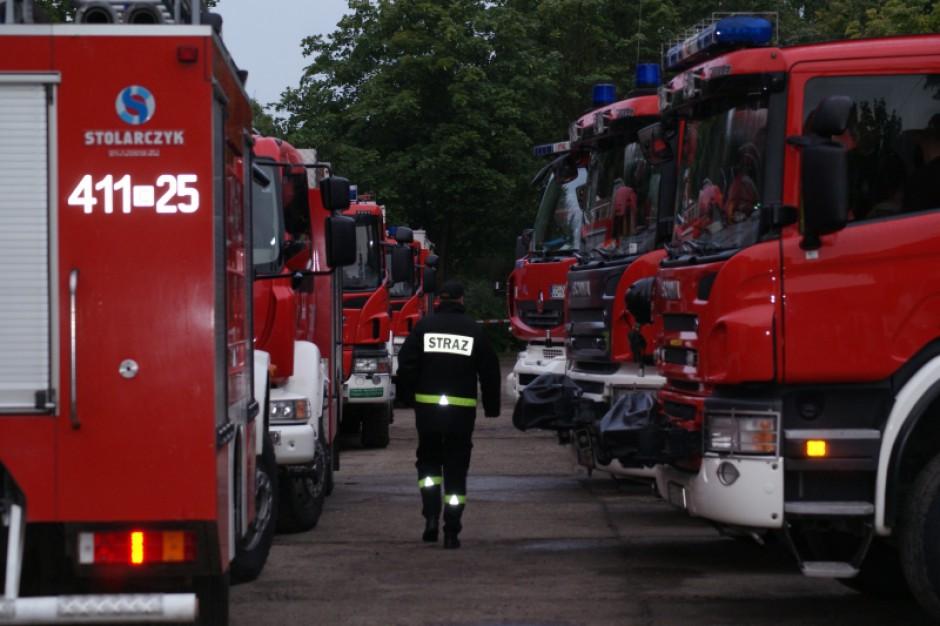 Państwowa Straż Pożarna: 188 interwencji w związku z burzami