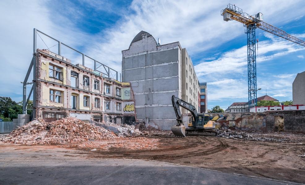 Na rogu ulicy Jagiełły trwają intensywne prace budowlano-rekonstrukcyjne. (Fot. mat. pras.)