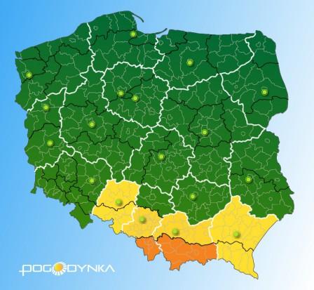 Polska walczy z ulewnym deszczem. W kilku województwach przekroczone stany ostrzegawcze na rzekach