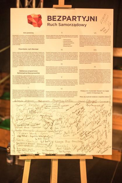 Deklaracja podpisana przez uczestników konwencji (fot.mat.pras.)