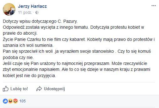 Fot. Facebook/Jerzy Harłacz
