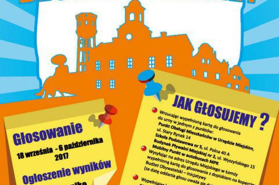 Budżet obywatelski Łomży na 2018 rok rozstrzygnięty