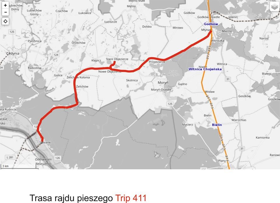 Trip 411 to wyprawa byłą linią kolejową na odcinku Godków-Siekierki