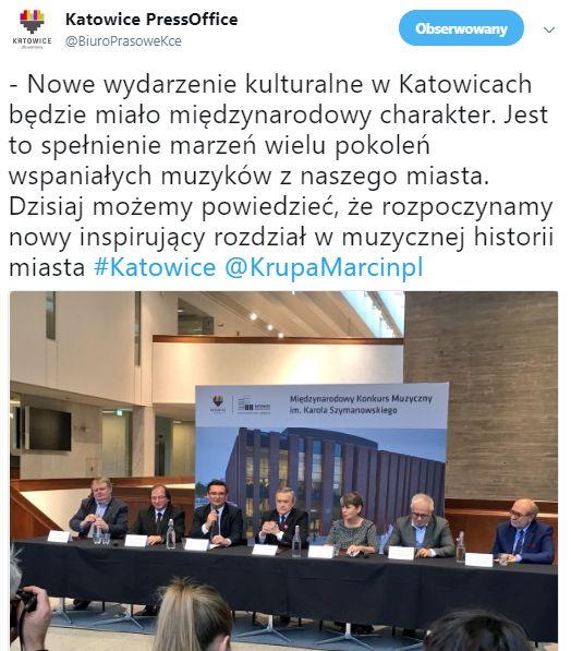 Konferencja dotycząca podpisania listu intencyjnego w Katowicach (fot.twitter/katowice)