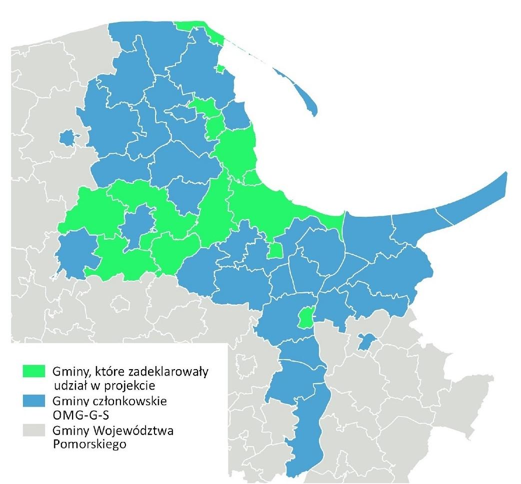 Zasięg terytorialny projektuŹródło: www.metropoliagdansk.pl