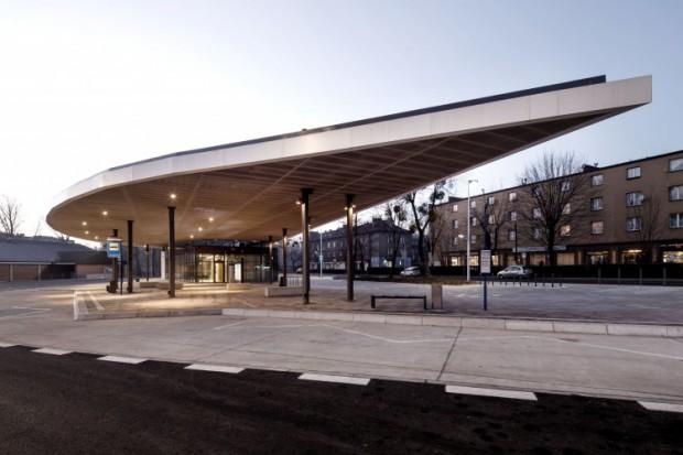 Dworzec PKS w Piekarach Śląskich.