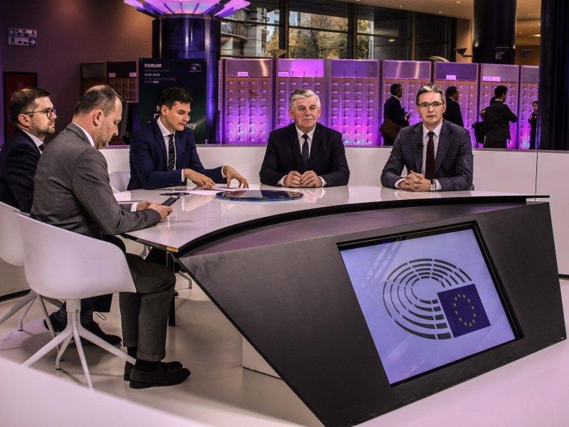 Konferencji towarzyszyła debata w centrum telewizyjnym Parlamentu Europejskiego. (fot. wrotapodlasia.pl)