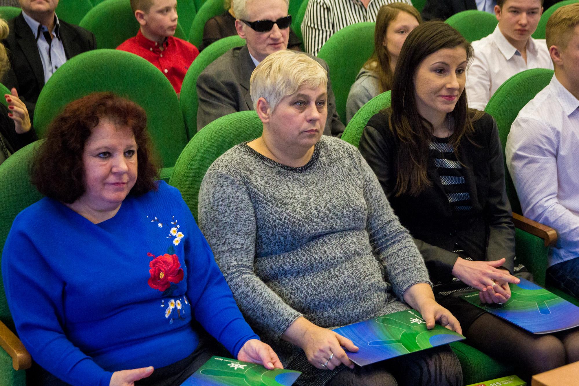 Od lewej – Stanisława Bąk, Małgorzata Będkowska, Agnieszka Kobojek (fot. UM Sosnowiec)