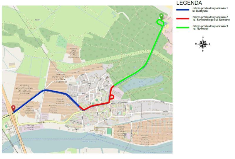 Planowaną inwestycję podzielono na trzy etapy(fot.Dyrekcja Rozbudowy Miasta Gdańska)