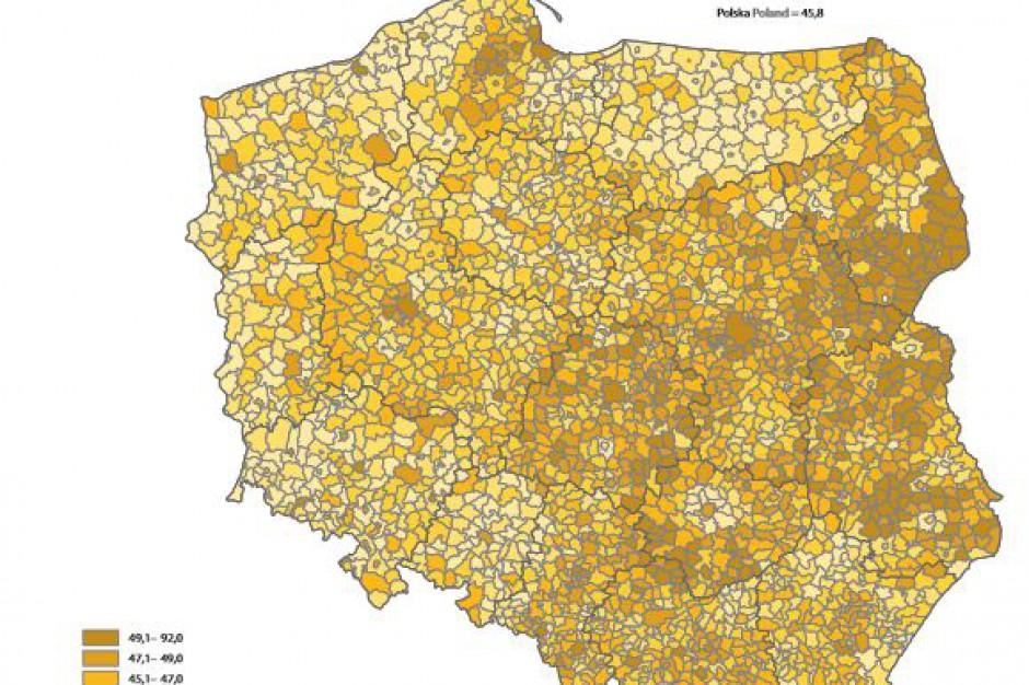 GUS podał obciążenie demograficzne i wskaźnik starości w gminach
