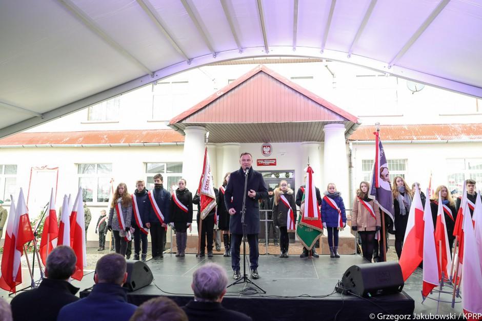 Prezydent zainaugurował w Stróżach obchody 100. rocznicy odzyskania niepodległości