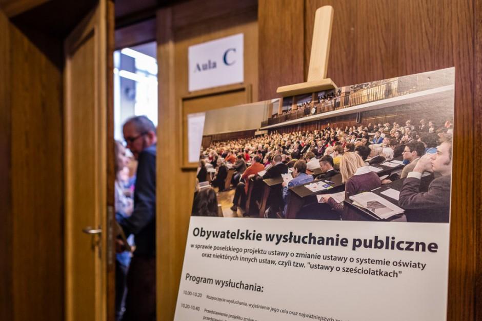 Obywatelskie wysłuchanie publiczne: ordynacja wyborcza wg PiS pełna zastrzeżeń