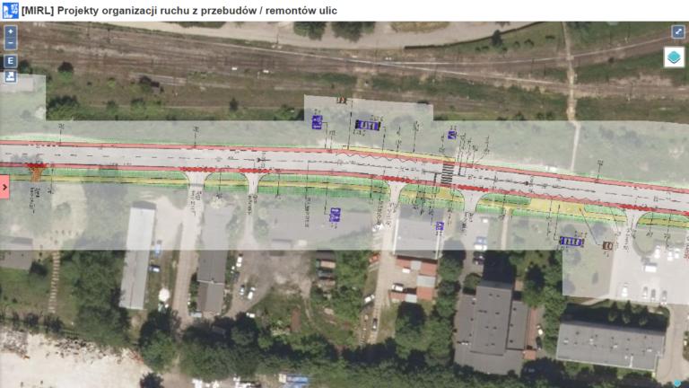 Serwis Mapa Infrastruktury Rowerowej Lublina  rozwinął się o prezentację dokumentacji / projektu w formie graficznej na podkładzie z satelity (fot.lublinrowerem.pl)