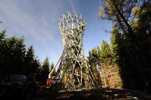 Samorządowcy i leśnicy wydali milion na wieżę