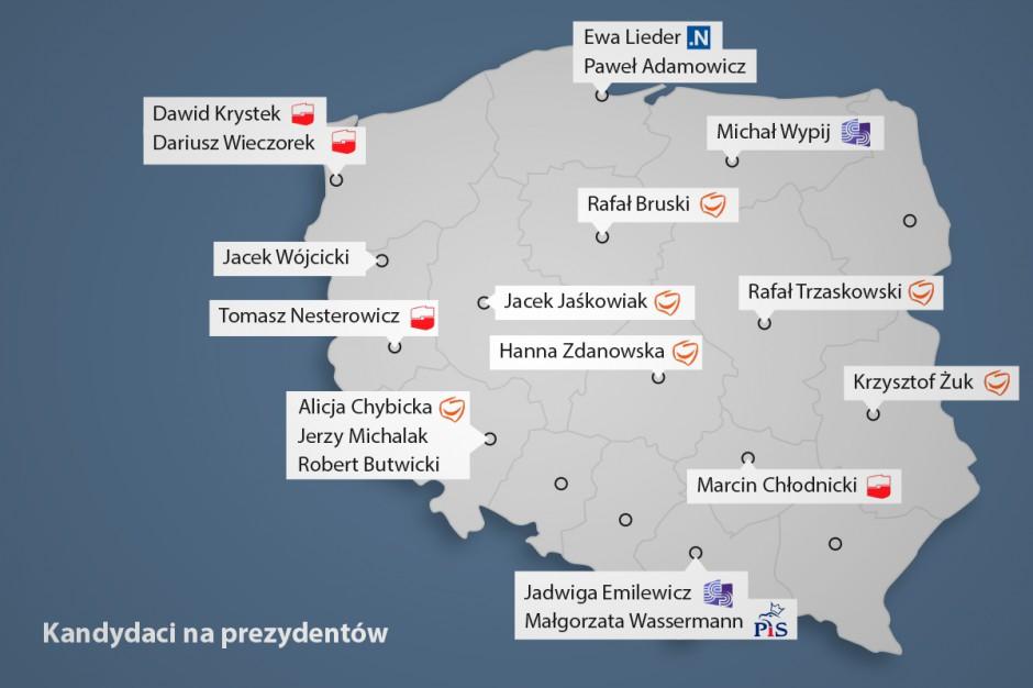 Wybory samorządowe 2018: Nazwiska kandydatów w miastach wojewódzkich