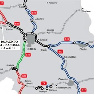 LUBELSKIE. 12 km za 249 mln zł    1. S12 - Dojazd do mostu na Wiśle w Puławach (11,9 km). Przedsięwzięcie za 249 mln zł brutto od grudnia 2014 r. realizuje konsorcjum Energopolu-Szczecin oraz Przedsiębiorstwa Robót Drogowych ze Zwolenia. Asfaltowa trasa ma być gotowa w drugim kwartale 2018 r.   fot. GDDKiA