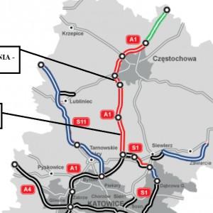 ŚLĄSKIE. 20 km za 887 mln zł    1. Odcinek A1 Blachownia - Zawodzie (4,7 km). Inwestycję za 235 mln zł brutto od sierpnia 2015 r. buduje konsorcjum Berger Bau Polska, Berger Bau (Niemcy). Trasa o nawierzchni betonowej ma zostać oddana do końca 2018 r.   2. Odcinek A1 Woźniki - Pyrzowice (15,2 km). Inwestycję za 652 mln zł brutto od sierpnia 2015 r. buduje konsorcjum Strabag Infrastruktura Południe, Strabag. Trasa o nawierzchni betonowej ma zostać oddana do końca 2018 r.   fot. GDDKiA