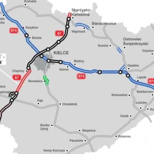 ŚWIĘTOKRZYSKIE. 22 km za 627 mln zł    1. Odcinek S7 Chęciny - Jędrzejów (21,6 km). Inwestycję za 627 mln zł brutto od czerwca 2015 r. realizuje konsorcjum Salini Polska, Salini Impregilo, Todini Costruzioni Generali. Droga o nawierzchni asfaltowej ma być gotowa w drugim kwartale 2018 r.   fot. GDDKiA