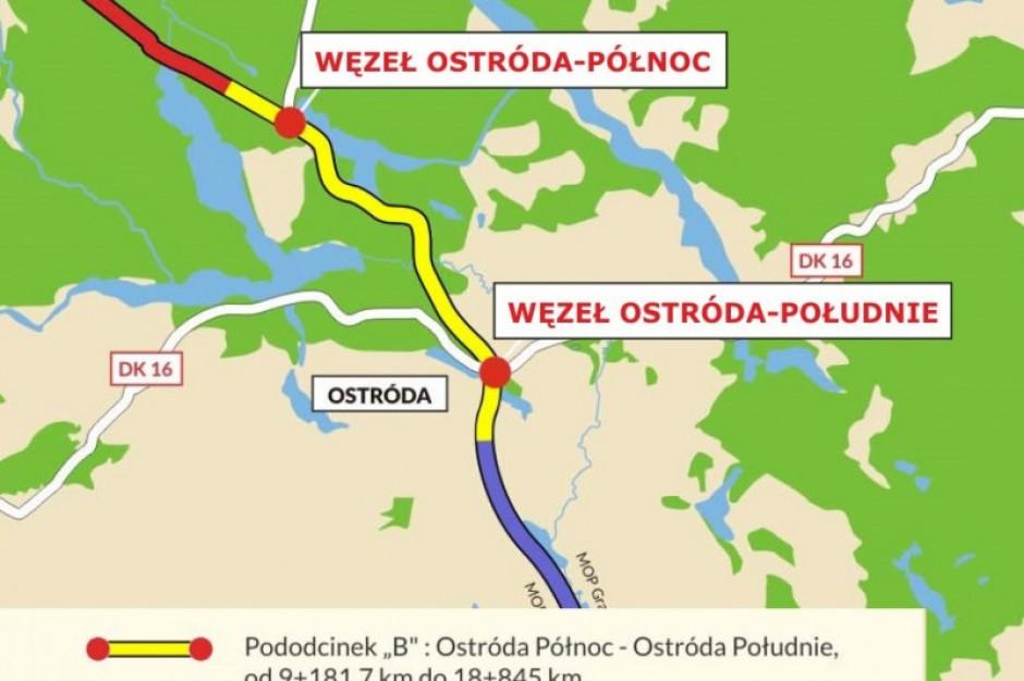 Obwodnica Ostródy i droga z Olsztyna do Olsztynka dostępne dla kierowców