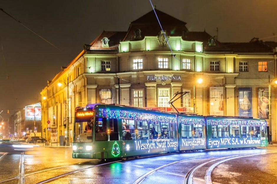 Kraków: Świąteczny tramwaj wyjedzie na ulice