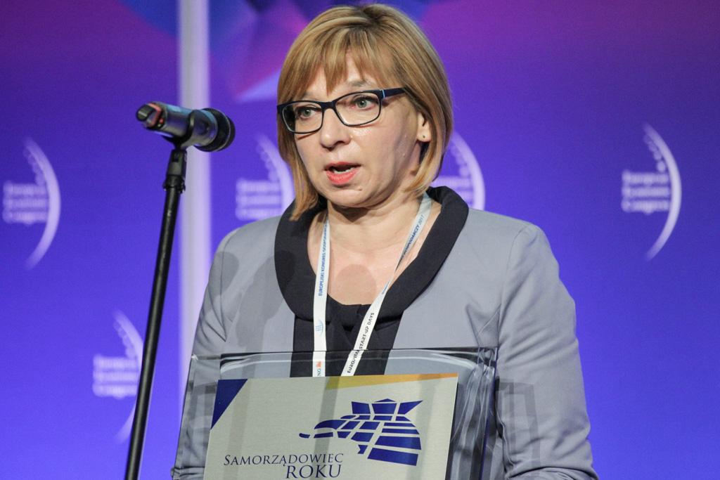 W gronie laureatów znalazła się także Elżbieta Radwan, burmistrz Wołomina (fot. PTWP)