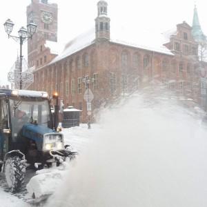 Toruń odśnieża ulice.   Fot: Twitter, Toruń