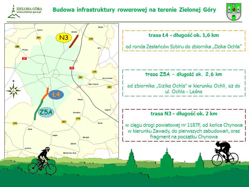 Budowa infrastruktury rowerowej w Zielonej Górze (fot.zielona-gora.pl)