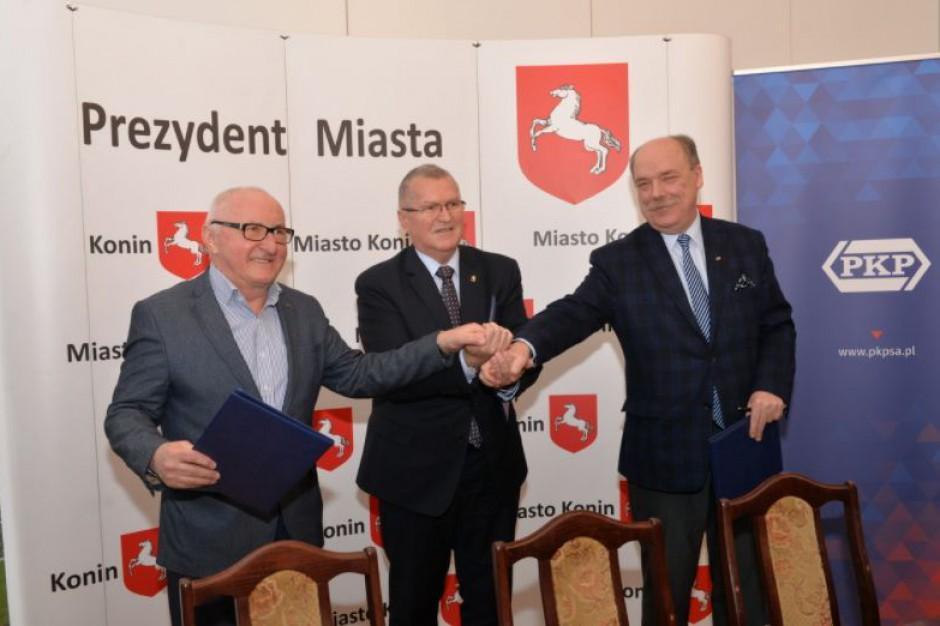 PKP podpisały list w sprawie budowy centrum logistycznego w Koninie