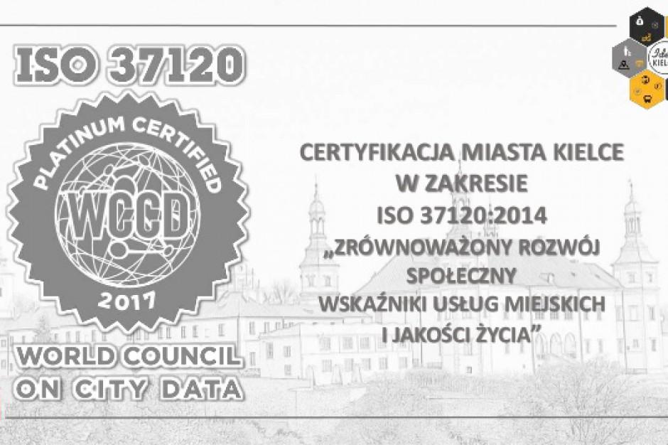 Kielce z platynowym certyfikatem ISO37120