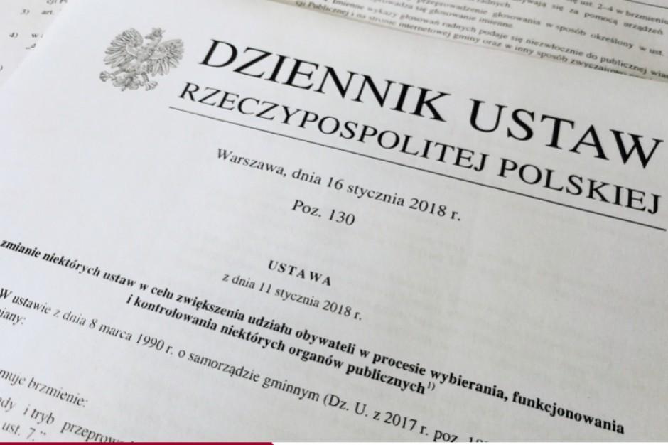 Zmiana Kodeksu wyborczego. Od jutra nowe zapisy wchodzą w życie
