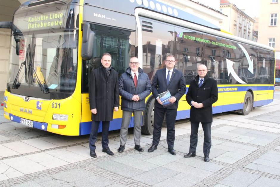 Na ulice Kalisza wyjedzie 11 nowych autobusów hybrydowych