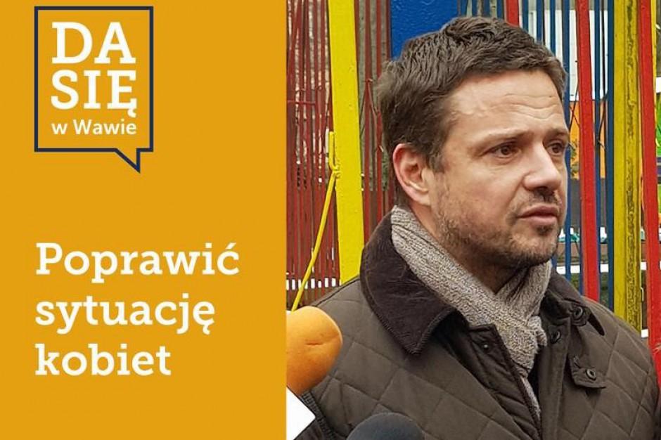 Rafał Trzaskowski przedstawia obietnice wyborcze. Zaczyna od dzieci i kobiet